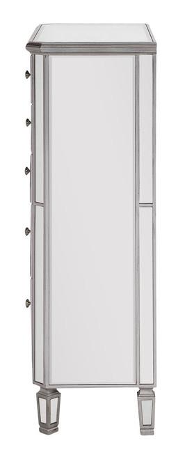 ELEGANT DECOR MF6-1026S 5 Drawer Cabinet 33 in. x 16 in. x 49 in. in Silver paint