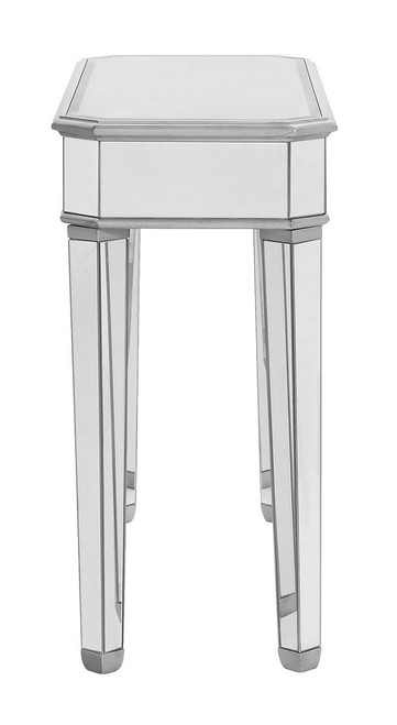 ELEGANT DECOR MF6-1025S Rectangle Table 41 in. x 17 in. x 33 in. in Silver paint