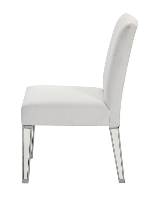 ELEGANT DECOR MF6-1010S Chair 20 in. x 26 in. x 38 in. in Silver paint