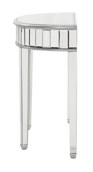 ELEGANT DECOR MF6-1009S Rectangle Dining Table 60 in. x 32 in. x 30 in. in Silver paint