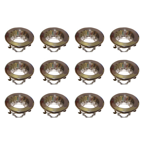 ELITCO LIGHTING R4-495CH-12PK 4 INCH CHROME SMOOTH TRIM WITH SOCKET BRACKET, FITS BR20/R20/PAR20 12 PACK