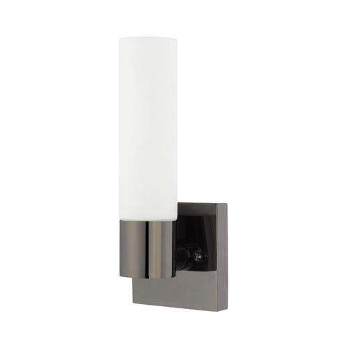 LIVEX LIGHTING 10101-46 Aero 1-Light ADA Wall Sconce, Black Chrome