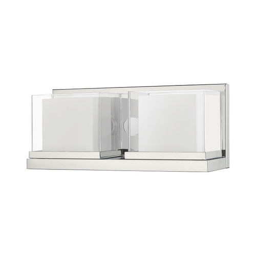LIVEX LIGHTING 10122-05 Duval 2-Light Bath Vanity, Polished Chrome