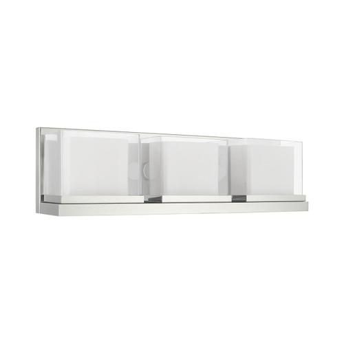 LIVEX LIGHTING 10123-05 Duval 3-Light Bath Vanity, Polished Chrome