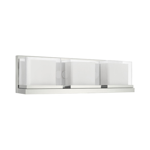 LIVEX LIGHTING 10123-05 Duval 3-Light Bath Vanity, Polished Chrome