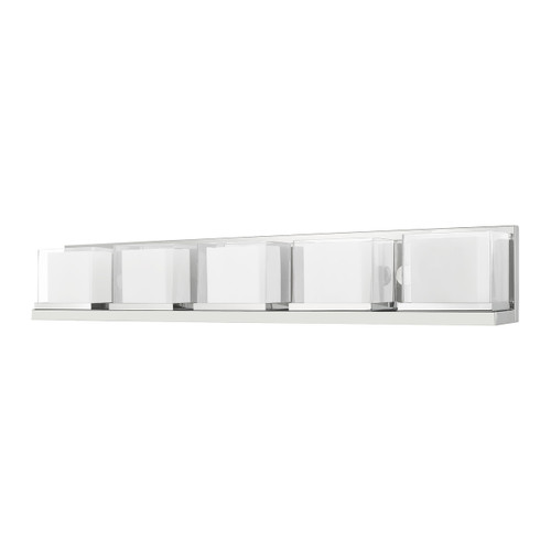 LIVEX LIGHTING 10125-05 Duval 5-Light Bath Vanity, Polished Chrome