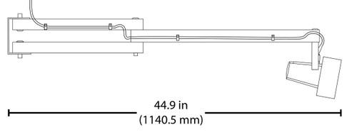 NICOR LIGHTING UDL102012050YL UDL 20-Watt LED Utility Dock Light with Adjustable Swing Arm, 5000K