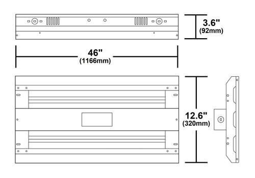 NICOR LIGHTING HBL3321UNV40K 321-Watt Linear LED High Bay in 4000K