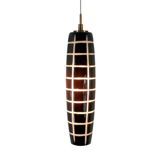 JESCO KIT-QAP403-BWCBZ 1-Light Low Voltage Pendant & Canopy Kit