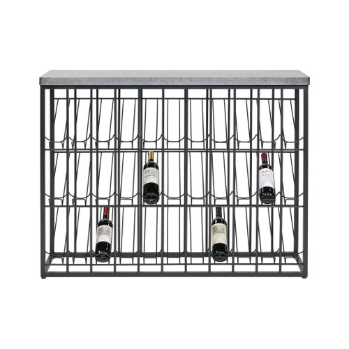 ELK HOME 3187-012 Wavertree Wine Rack in Black and Galvanized Steel