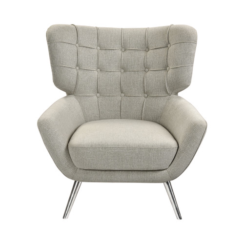 ELK HOME 1204-102 Determinative Chair in Grey Linen and Silver
