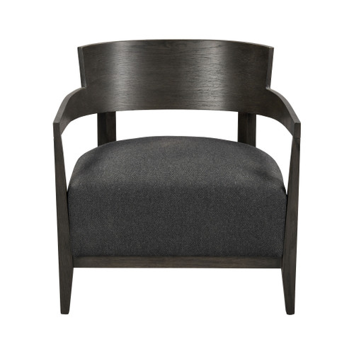 ELK HOME 1204-105 On Being Chair in Dark Grey and Dark Grey Herringbone