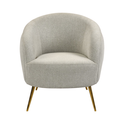ELK HOME 1204-101 Seeming Chair in Grey Linen and Brass
