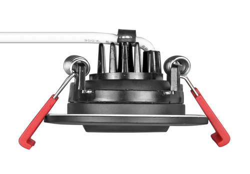 NICOR DGD211202KRDBK 2-inch LED Gimbal Recessed Downlight in Black, 2700K