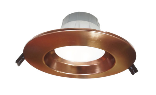 NICOR CLR6-1015-UNV-50K-AC 6 inch Recessed High-Output LED Downlight, Direct to Ceiling Kit, Aged Copper, 5000K