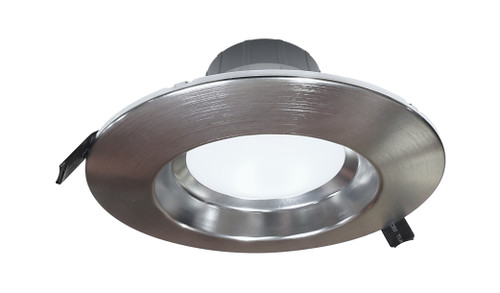 NICOR CLR6-10-UNV-50K-NK 6 inch Recessed Commercial LED Downlight, Direct to Ceiling Kit, Nickel, 5000K