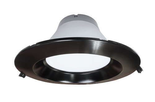 NICOR CLR8-10-UNV-50K-BK 8 inch Recessed Commercial LED Downlight, Direct to Ceiling Kit, Black, 5000K
