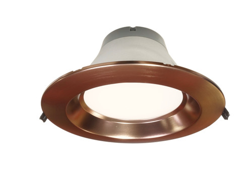 NICOR CLR8-10-UNV-50K-OB 8 inch Recessed Commercial LED Downlight, Direct to Ceiling Kit, Aged Copper, 5000K