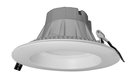 NICOR CLR6-10-UNV-27K-WH 6 inch Recessed Commercial LED Downlight, Direct to Ceiling Kit, White, 2700K