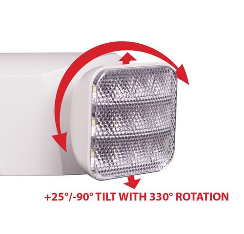 NICOR EML310UNVWH EML Series Low Profile Adjustable LED Emergency Light Fixture