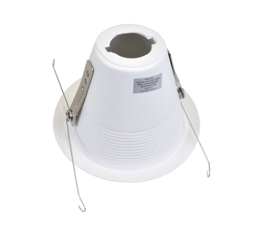 NICOR 15512WH 5 in. White Recessed Shallow Cone Baffle Trim