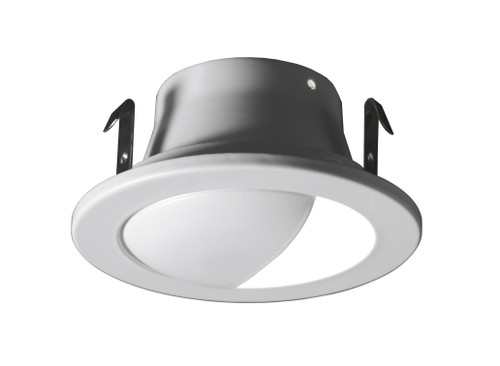 NICOR 14001WH 4 in. White Recessed Wall Wash Trim for MR16 Bulb