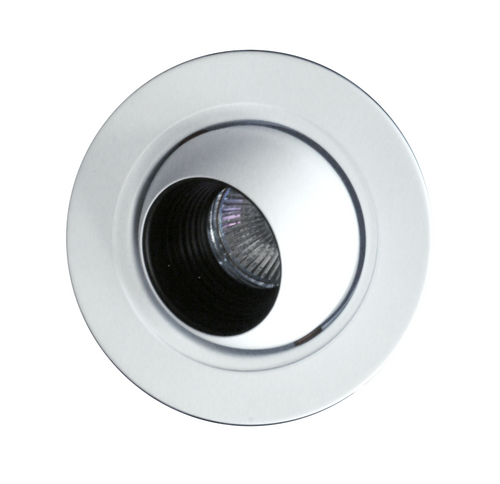 NICOR 14006WH 4 in. White Recessed Eyeball Trim with Black Baffle for MR16 Bulb