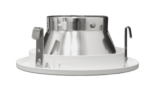 NICOR 14005 4 in. White Recessed Trim with Chrome Specular MR16 Bulb