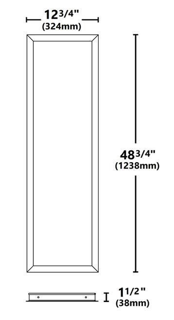 NICOR TPE10FK14 1x4 Ft. Frame Kit for TPE Series LED Troffers