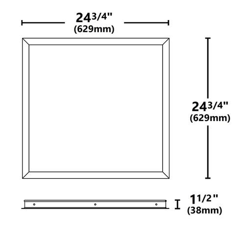 NICOR TPE10FK22 2x2 Ft. Frame Kit for TPE Series LED Troffers