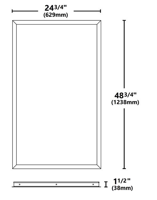 NICOR TPE10FK24 2x4 Ft. Frame Kit for TPE Series LED Troffers