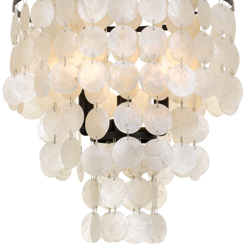 CRYSTORAMA BRI-3003-DB Brielle Capiz Shell 3 Light Bronze Ceiling Mount