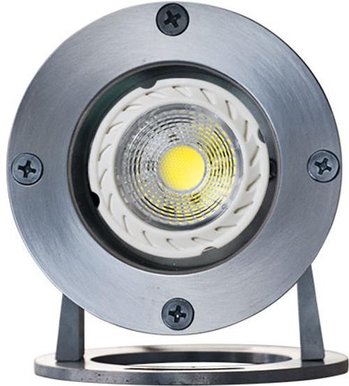 DABMAR LIGHTING LV323-LED5-SS316 SS W/21' CORD UNDERWATER 5W LED MR16 12V, 316 Marine Grade Stainless Steel