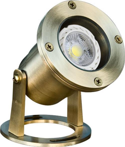 DABMAR LIGHTING LV323-LED7-BS BRASS W/21' CORD UNDERWATER 7W LED MR16 12V, Brass