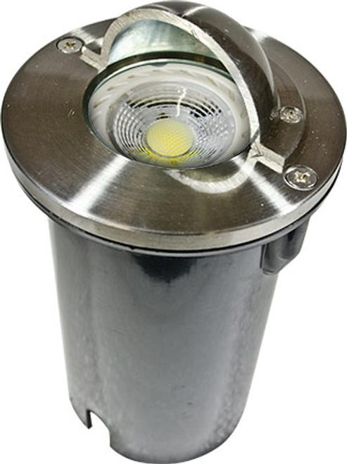 DABMAR LIGHTING LV625-LED7-SS316 SS316 HALF MOON STEP LIGHT 7W LED MR16 12V, 316 Marine Grade Stainless Steel