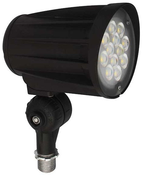 DABMAR LIGHTING DPR50-LED28F-40K-B CAST ALUMINUM LENSED FLOOD LIGHT 28W LED 120-277V, Black