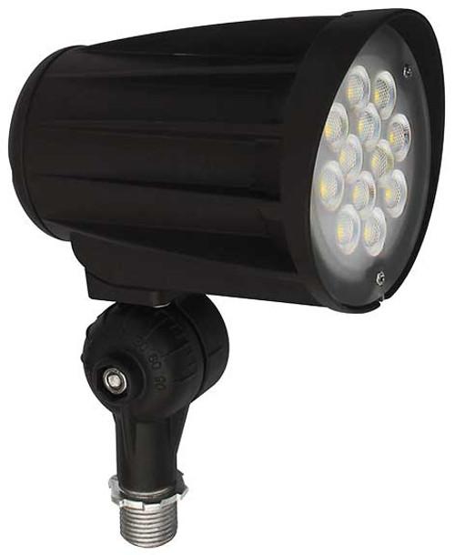 DABMAR LIGHTING DPR50-LED28S-40K-B CAST ALUMINUM LENSED SPOT LIGHT 28W LED 120-277V, Black