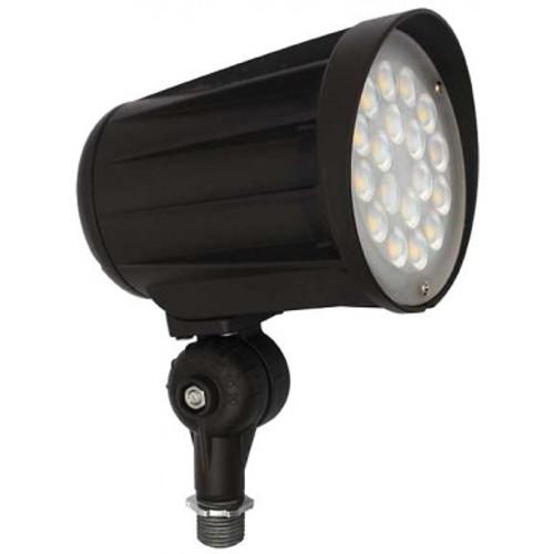 DABMAR LIGHTING DPR51-LED42F-40K-B CAST ALUMINUM LENSED FLOOD LIGHT 42W LED 120-277V, Black