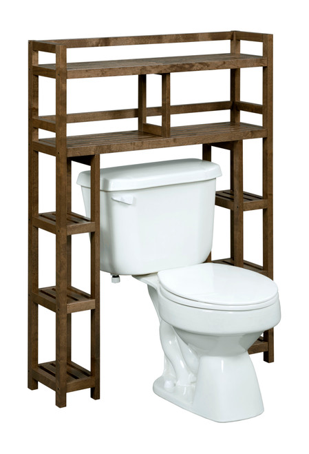 NEWRIDGE HOME 2029-CHS Solid Wood Dunnsville 2-Tier Space Saver with Side Storage for your Bathroom