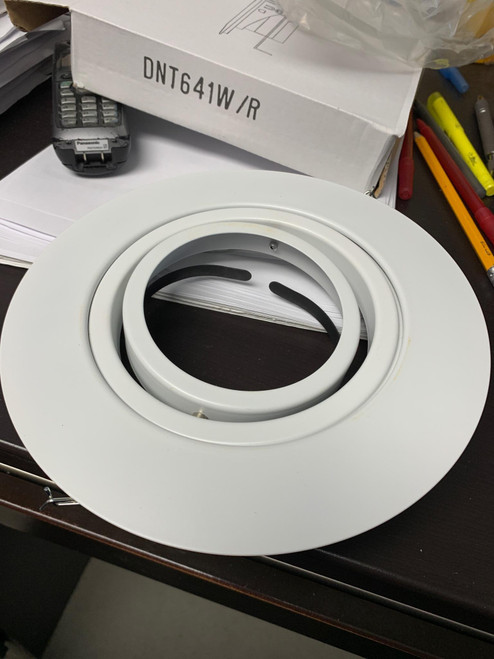 "6"" White Open Gimbal For PAR30/R30"