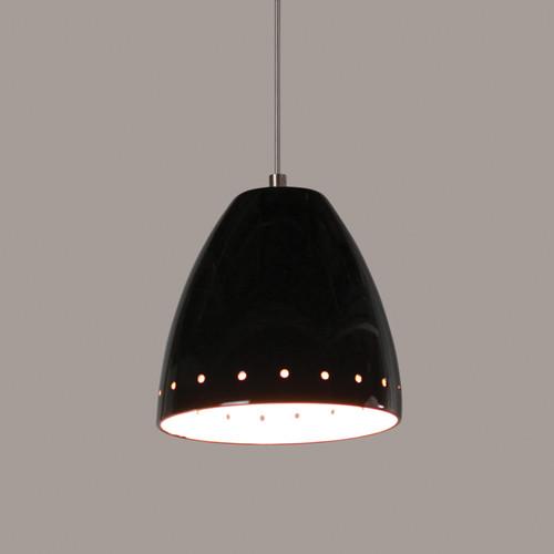 A19 Lighting LVMP02-BG 1-Light Realm Low Voltage Mini Pendant Black Gloss