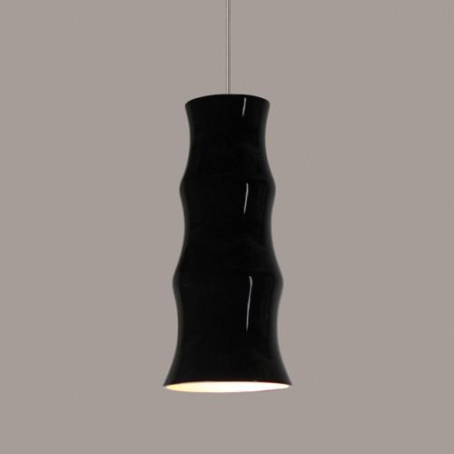 A19 Lighting LVMP08-BG 1-Light Chambers Low Voltage Mini Pendant Black Gloss