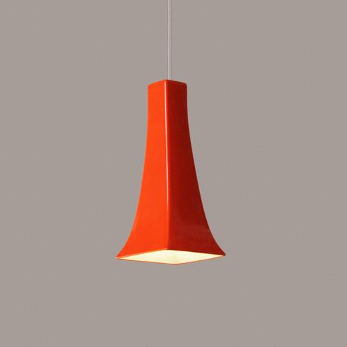 A19 Lighting LVMP14-PO 1-Light Eiffel Low Voltage Mini Pendant Poppy Orange