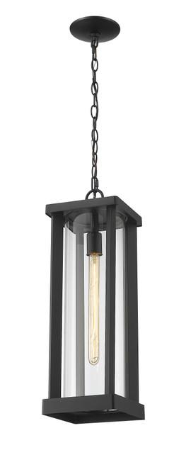 Z-LITE 586CHB-BK 1 Light Outdoor Chain Mount Ceiling Fixture,Black