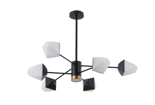 LIGHTING JUNGLE BE22C25B 6-Light LED PENDANT LIGHT,Black