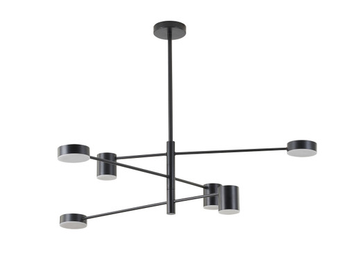 LIGHTING JUNGLE BE20C40B 6-Light LED PENDANT LIGHT,Black