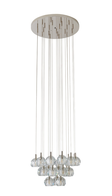 LIGHTING JUNGLE BDC04C24N 23-Light Chandelier,Polished Nickel