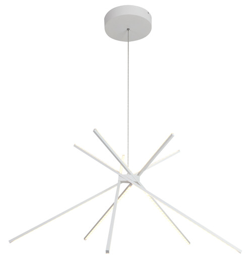 LIGHTING JUNGLE ALU02C42WH LED PENDANT LIGHT,Matte White