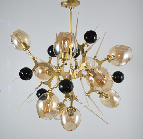 LIGHTING JUNGLE BE01 10-Light Ceiling Fixture,Gold