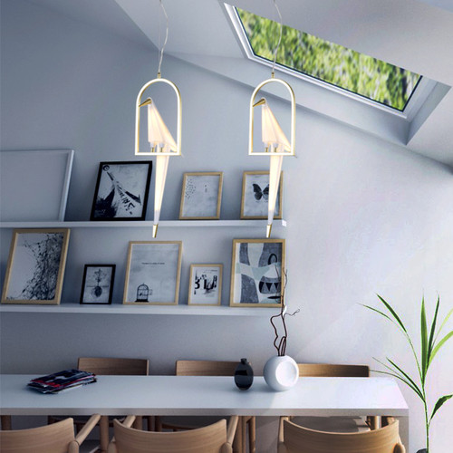 LIGHTING JUNGLE BE10 LED PENDANT LIGHT,Gold & White